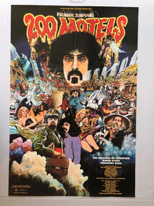 FRANK ZAPPA - 200 MOTELS ORIGINAL MOVIE AND SOUNDTRACK POSTER (1971)