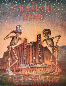 GRATEFUL DEAD - RADIO CITY MUSIC HALL, NEW YORK CITY - 1980