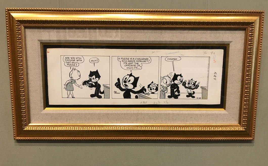 SIGNED ORIGINAL FELIX THE CAT STRIP