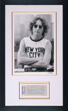 ORIGINAL JOHN LENNON SIGNED PERSONAL CHECK WITH HISTORIC FINE ART PHOTOGRAPH