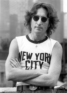 JOHN LENNON ON ROOFTOP IN NEW YORK CITY