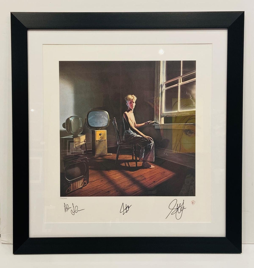 POWER WINDOWS ARTWORK POSTER - HAND SIGNED BY RUSH