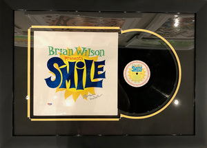 BRIAN WILSON PRESENTS SMILE - ALBUM COVER AND VINYL SET-UP - SIGNED BY BRIAN WILSON