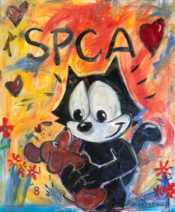 GUGU AND FELIX - SPCA - ART FROM THE HEART EVENT PAINTING