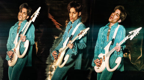 PRINCE WITH LOVE SYMBOL GUITAR TRIPTYCH