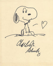 ORIGINAL SNOOPY WITH HEART DRAWING BY CHARLES M. SCHULZ