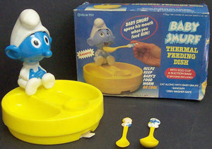 Baby-Smurf-Thermal-Feeding-Dish