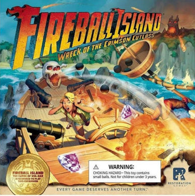 **FIREBALL ISLAND: WRECK OF THE CRIMSON CUTLASS (Restoration Games, Asmodee, Mandu-Korea, Broadway Toys-China, Taiwan, Singapore)
