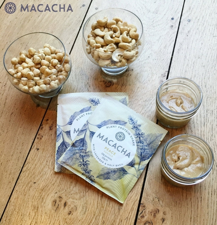 MACACHA PLANT PROTEIN CASHEW AND HAZLENUT BUTTER