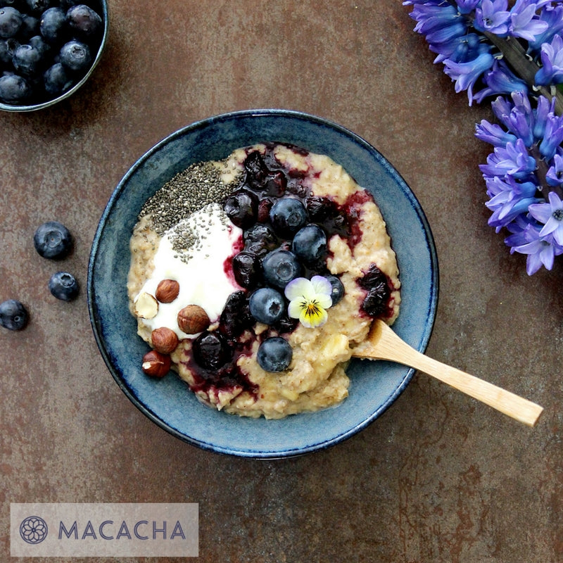 Apple, Blueberry & Cinnamon Protein Porridge
