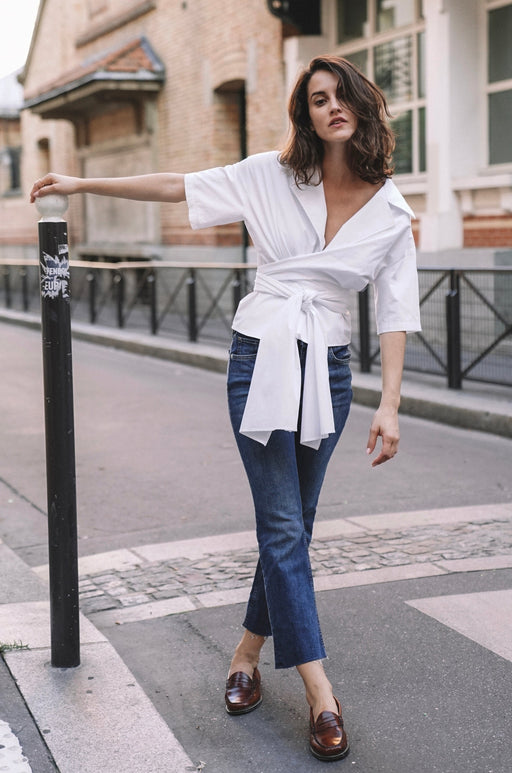 Chemise Origami - Blanche