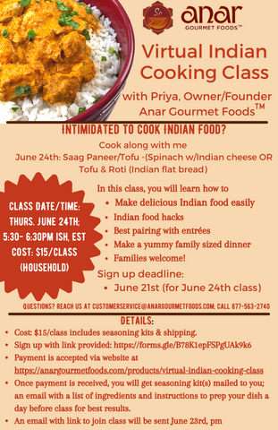 flyer for cooking class