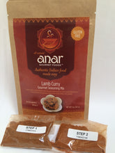 Lamb curry spice mix packet