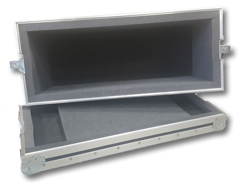 2x10 Lift Lid Road Case, Inside View - St. Louis Case
