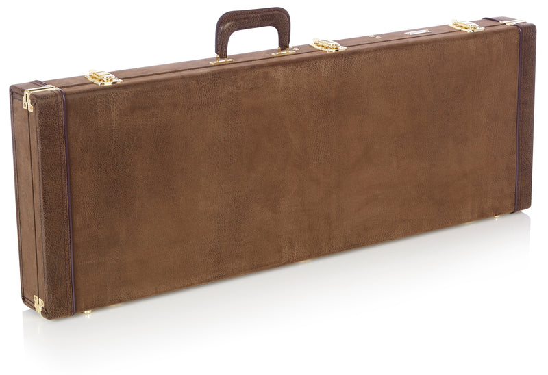 Deluxe Wood Series - Electric Guitar Case, Vintage Brown