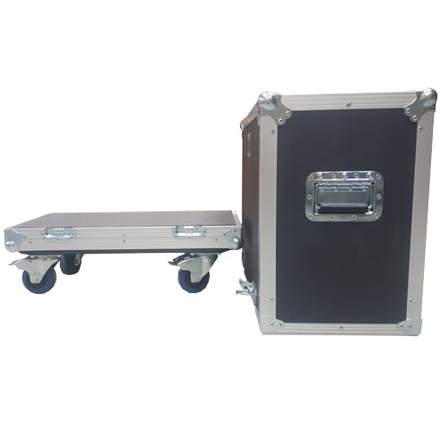 1x10 Lift Lid Road Case with wheels - St. Louis Case