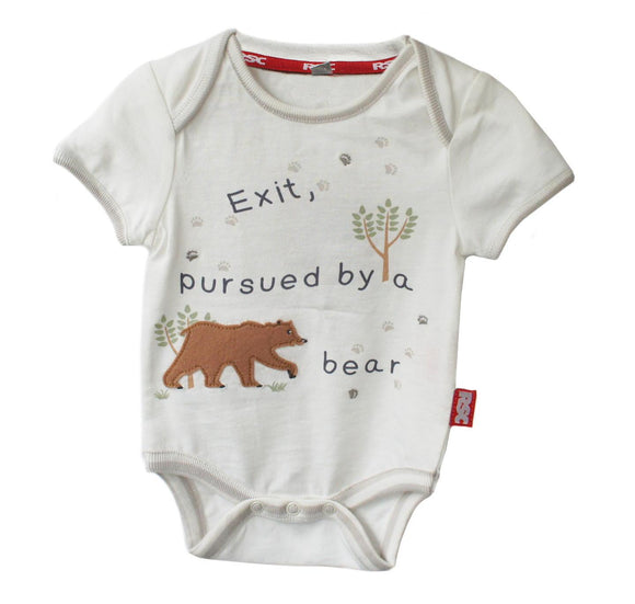 Baby Bodysuit: Exit Pursued by a Bear  1