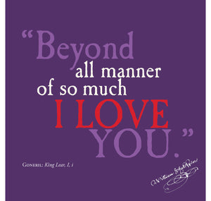 Bodleian Library Greeting Card: Beyond All Manner of So Much I Love You 1