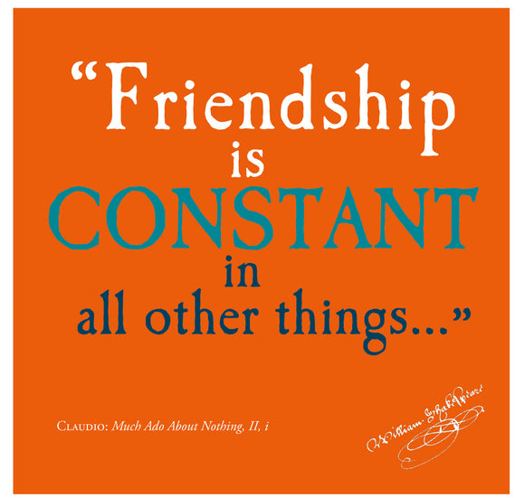 Bodleian Library Greeting Card: Friendship is Constant in All Other Things 1