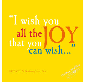 Bodleian Library Greeting Card: I Wish You All the Joy That You Can Wish 1