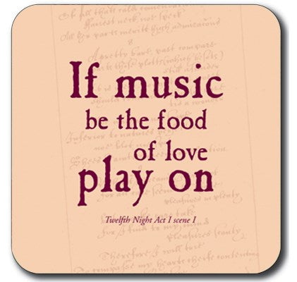 Custom Works Range Coaster: If Music Be the Food of Love... 1