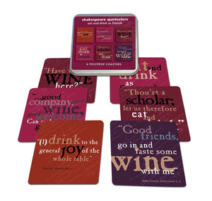 Custom Works Range Coaster Set of 6: Shakespeare Drinking Quotes 1