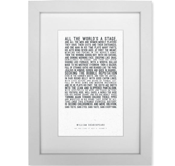 Framed Print: All the World's a Stage 1