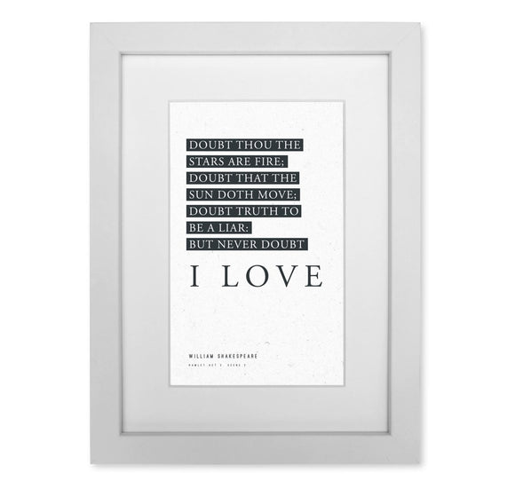 Framed Print: Doubt Thou the Stars Are Fire 1