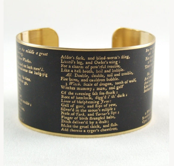 Jezebel Charms Wide Cuff: Macbeth Act IV i 1