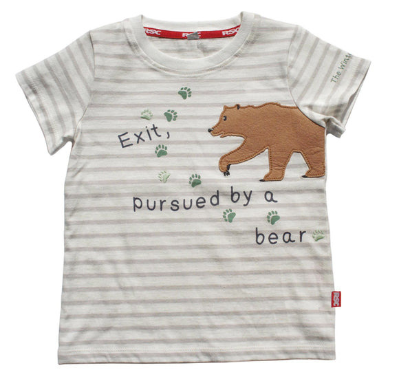 Kids T Shirt: Exit Pursued by a Bear 1