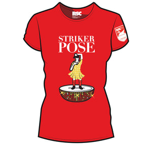 Ladies T Shirt: Striker Pose 1