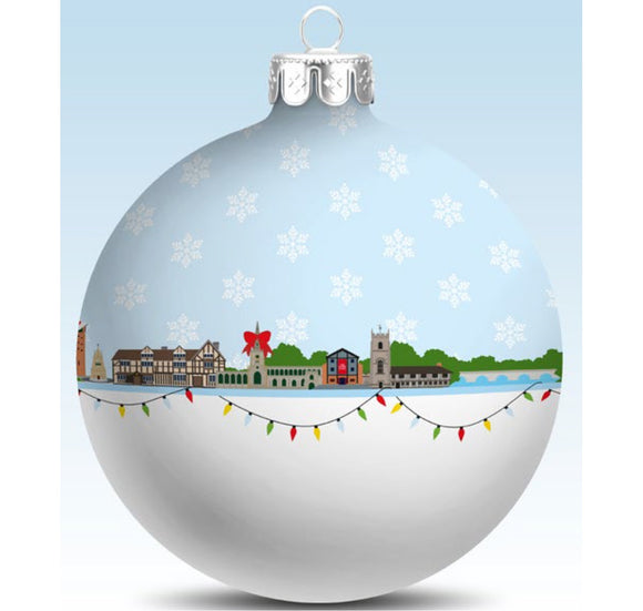 My World Bauble: Stratford-upon-Avon Christmas Skyline 1