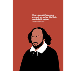 My World Greeting Card: William Shakespeare 1