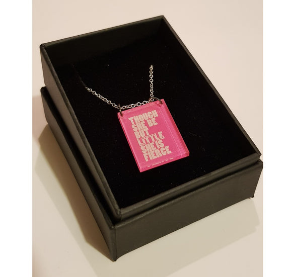 Necklace Pink Acrylic Fierce