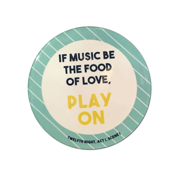 Temple Island Ceramic Coaster: If Music Be The Food Of Love 1