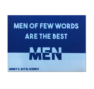 Temple Island Large Magnet: Men Of Few Words 1