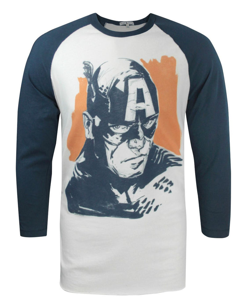 Junk Food Captain America Men's Raglan Top