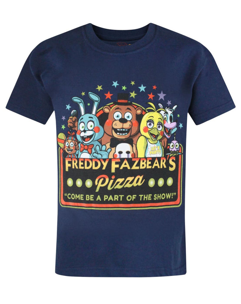 Five Nights At Freddy's Part Of The Show Kid's Navy T-Shirt