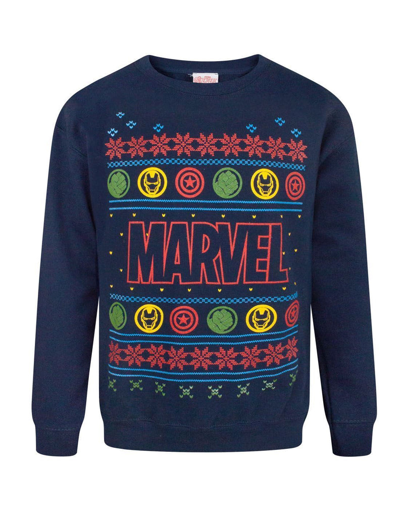 Marvel Logo Boy's Christmas Sweatshirt
