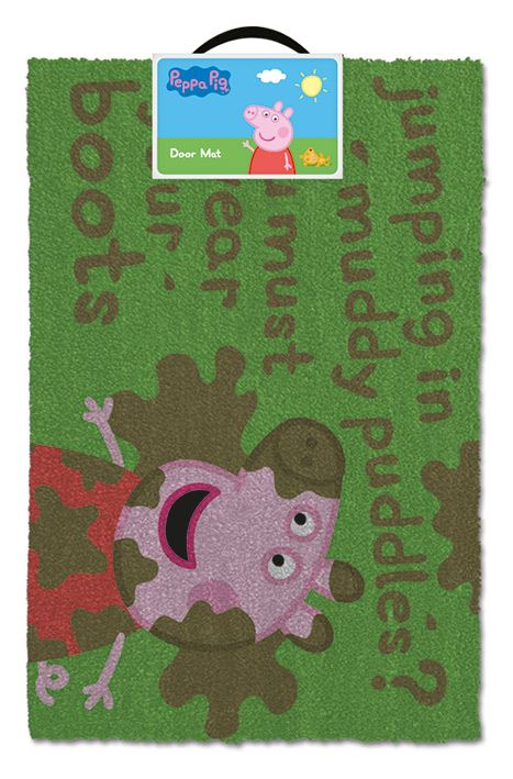 Peppa Pig Muddy Puddles Door Mat