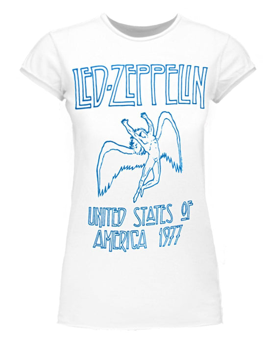 Amplified Led Zeppelin USA 1977 Women's T-Shirt