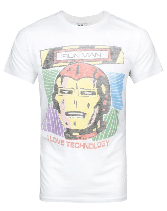 Junk Food Iron Man I Love Technology Men's T-Shirt
