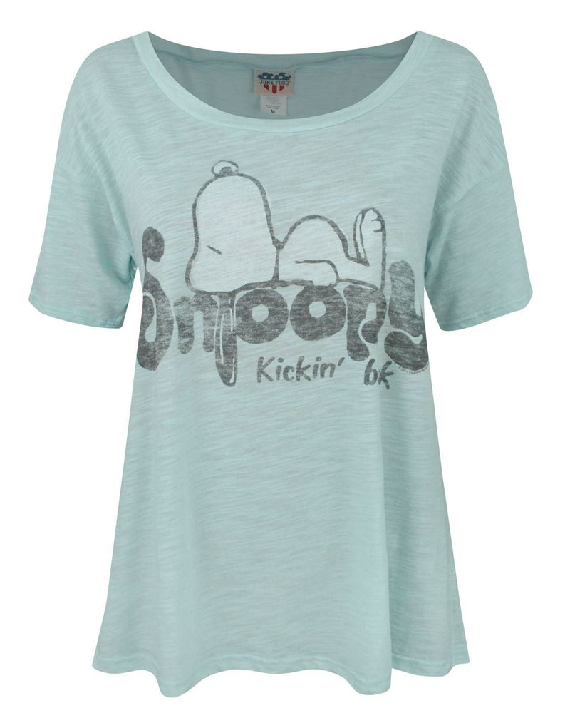 Junk Food Snoopy Kickin' Back Women's T-Shirt
