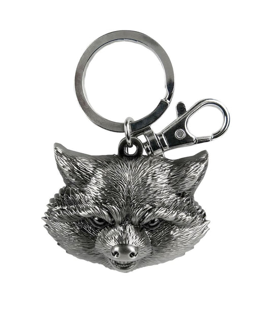 Guardians Of The Galaxy Rocket Raccoon Head Pewter Key Chain