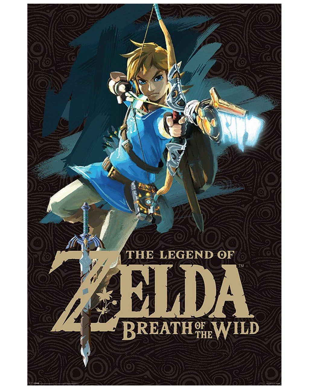 The Legend Of Zelda Breath Of The Wild Game Cover Poster