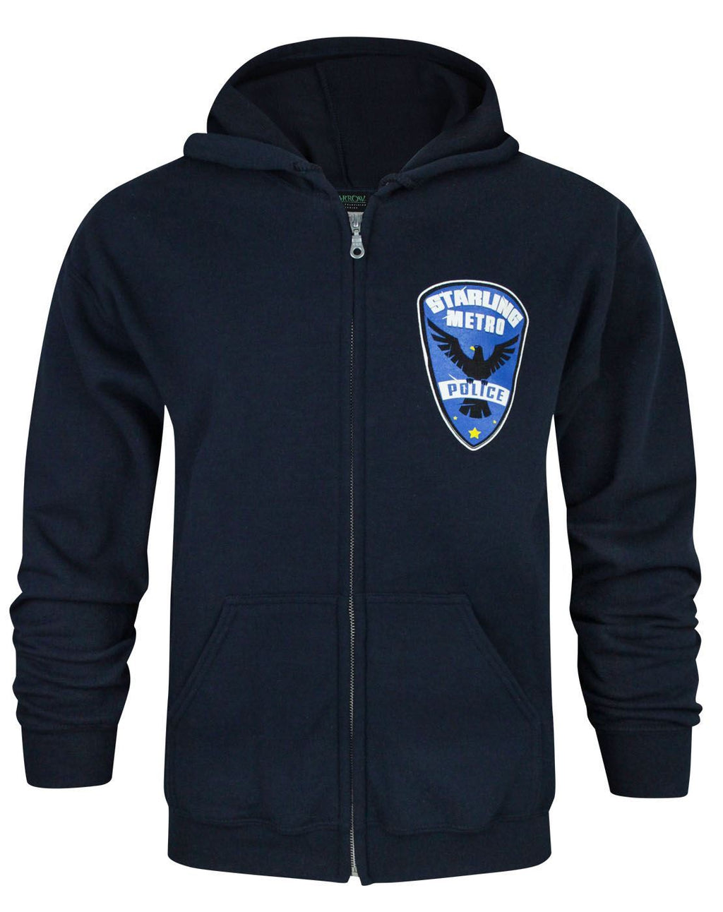 Arrow Starling City Metro Police Men's Zip-Up Hoodie