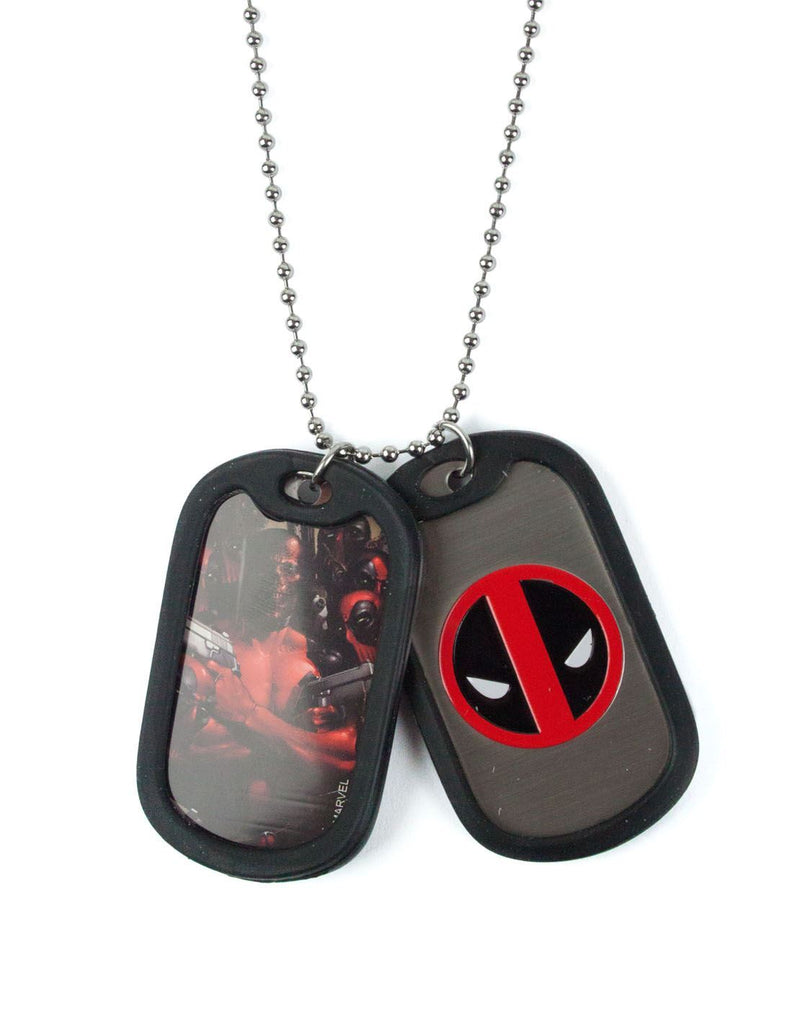 Marvel Deadpool Dogtags With Chain Necklace