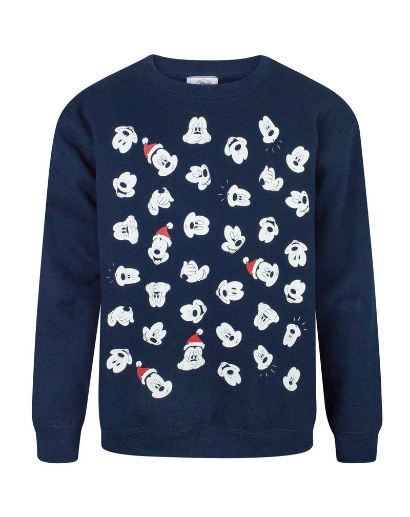 Disney Mickey Mouse Faces Boy's Christmas Sweatshirt