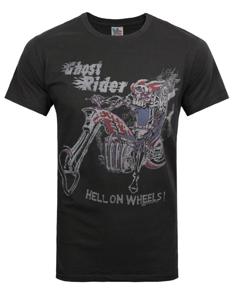 Junk Food Ghost Rider Hell On Wheels Men's T-Shirt