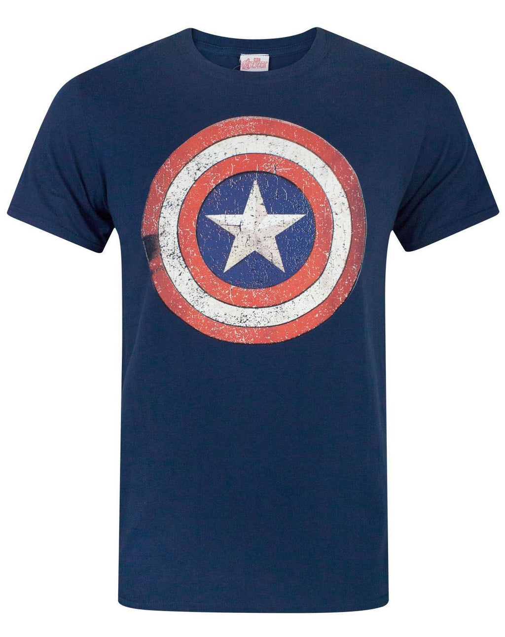 Captain America Distressed Shield Men's T-Shirt